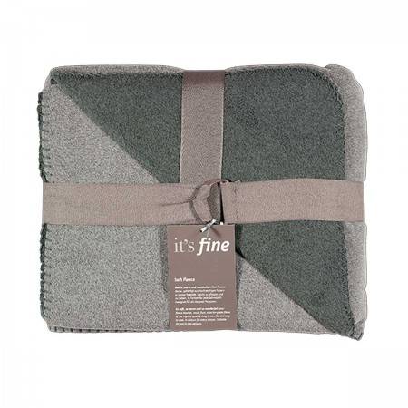 Soft Fleece Kuscheldecke, anthrazit-grau