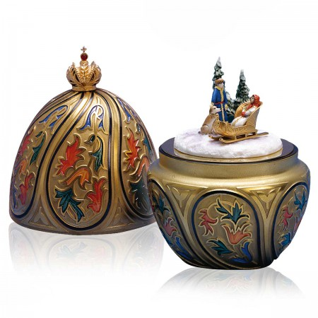 The Russian Winter Egg by Theo Fabergé, St. Petersburg Collection