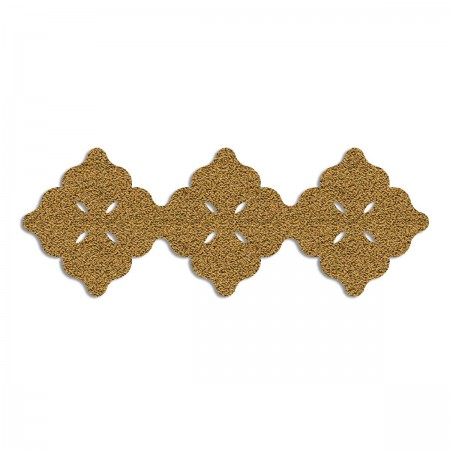 Edition Silhouette Object Carpet Teppich 01, gold loop