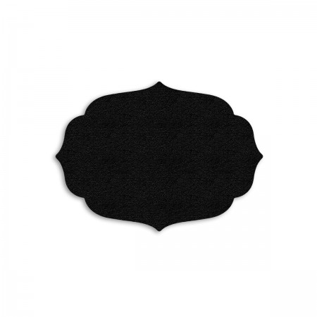 Edition Silhouette Object Carpet Teppich 05, black velours