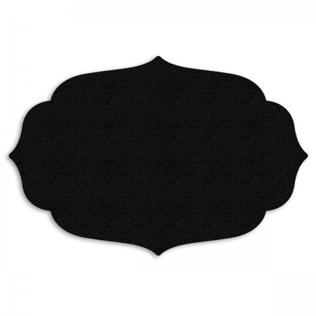 Edition Silhouette Object Carpet Teppich 06, black velours