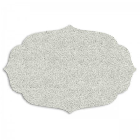 Edition Silhouette Object Carpet Teppich 06, white velour