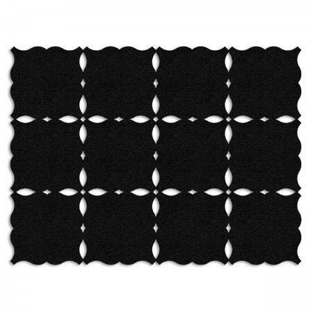 Edition Silhouette Object Carpet Teppich 07, black velours