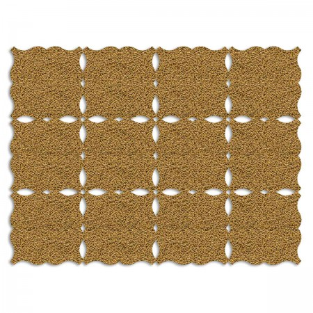 Edition Silhouette Object Carpet Teppich 07, gold loop