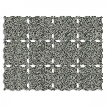 Edition Silhouette Object Carpet Teppich 07, silver loop