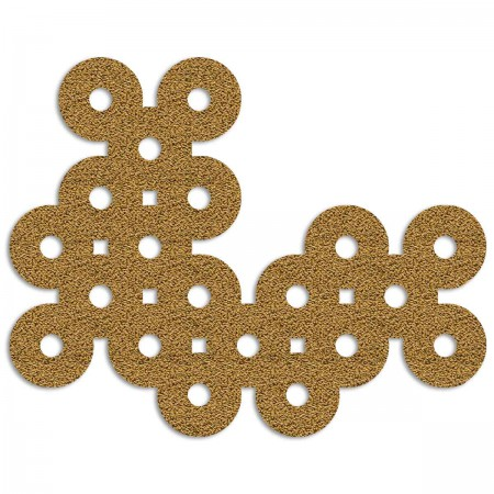 Edition Silhouette Object Carpet Teppich 12, gold loop