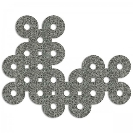 Edition Silhouette Object Carpet Teppich 12, silver loop