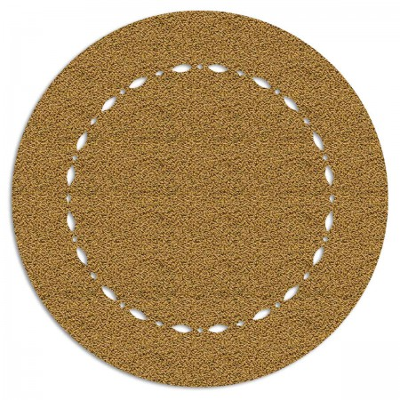 Edition Silhouette Object Carpet Teppich 13, gold loop