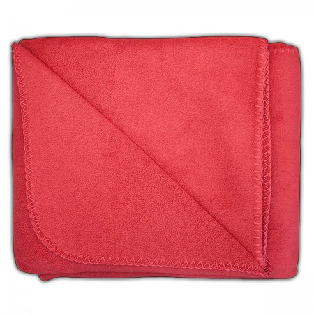 Soft Fleece Fine Kuscheldecke, rot