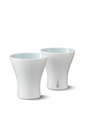 Lab KPM Becher-Set, weiß-mint